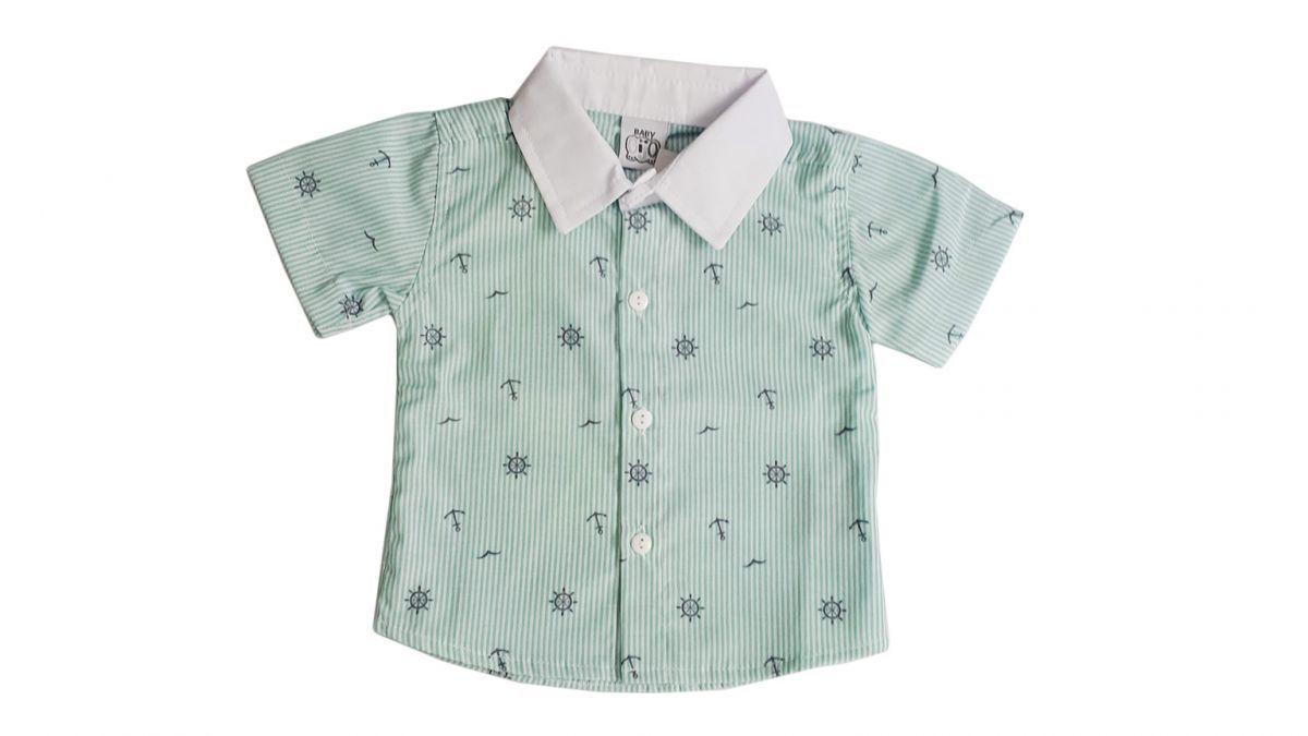 Camisa social de bebê com âncoras - Marinheiro