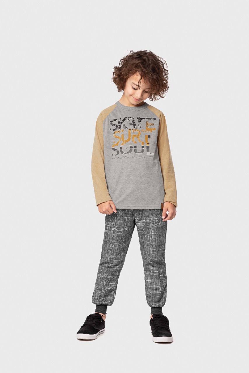 Camiseta infantil masculina meia malha Skate, Surf e Soul Mormaii