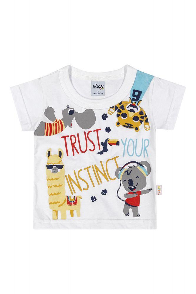 Camiseta infantil masculina Trust your Instinct Elian
