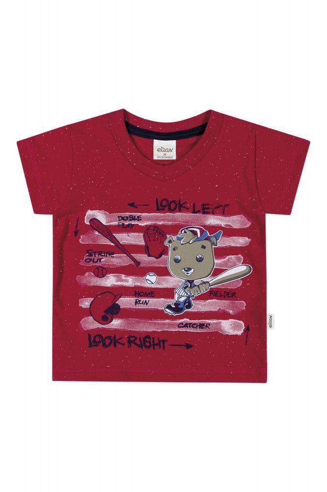Camiseta infantil masculino estampada Elian