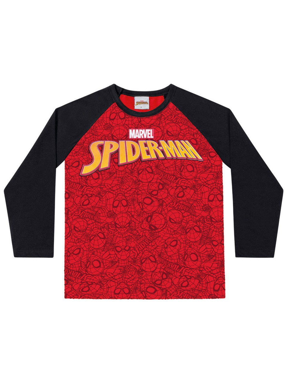 Camiseta infantil masculino manga longa Spider-man Fakini