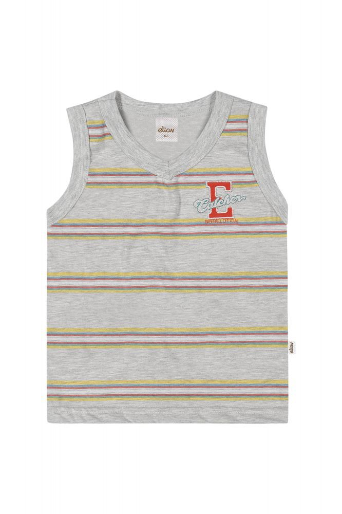 Camiseta regata infantil masculina listrada Elian