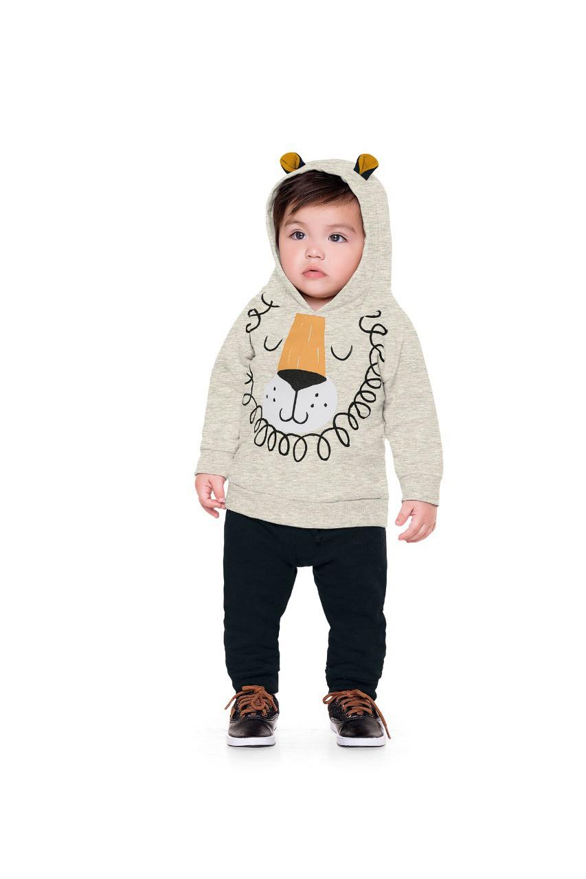 Conjunto infantil masculino para bebê em moletom - FAKINI