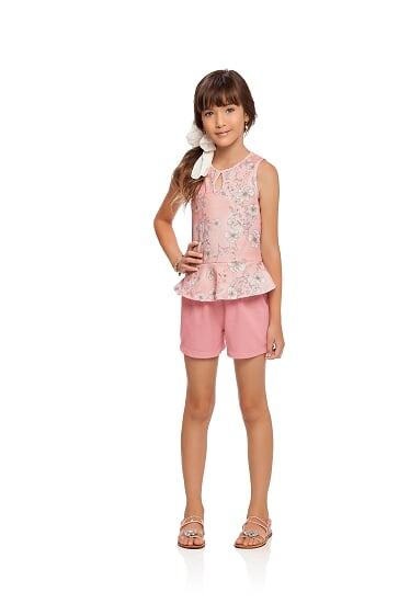 Conjunto infantil de menina rosa Milli & Nina