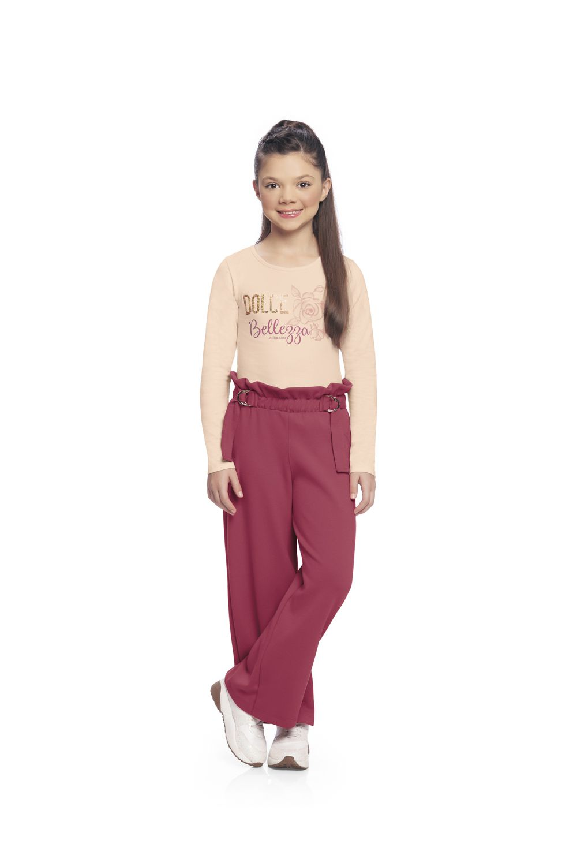 Conjunto infantil feminino de inverno Blusa e Calça em Interlock Doce Beleza Milli & Nina