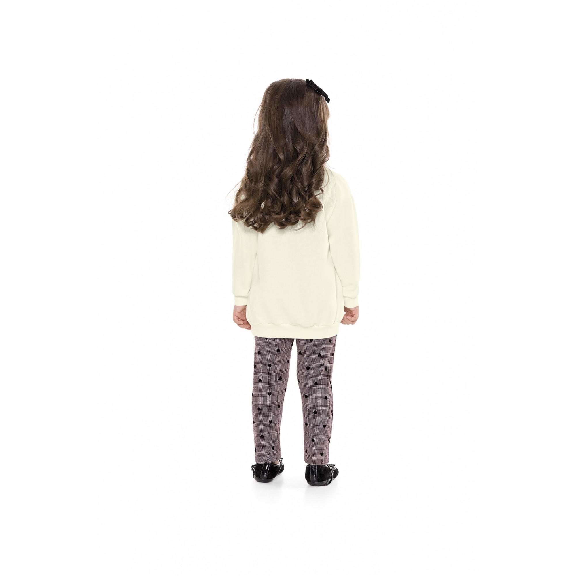 Conjunto infantil feminino Casaco e Legging LOVE - Playground