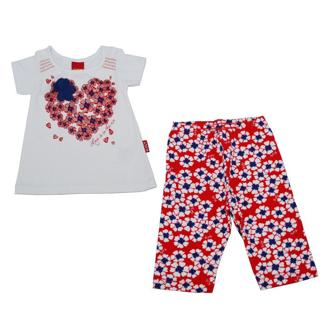 Conjunto infantil para bebê feminino de coração Kyly
