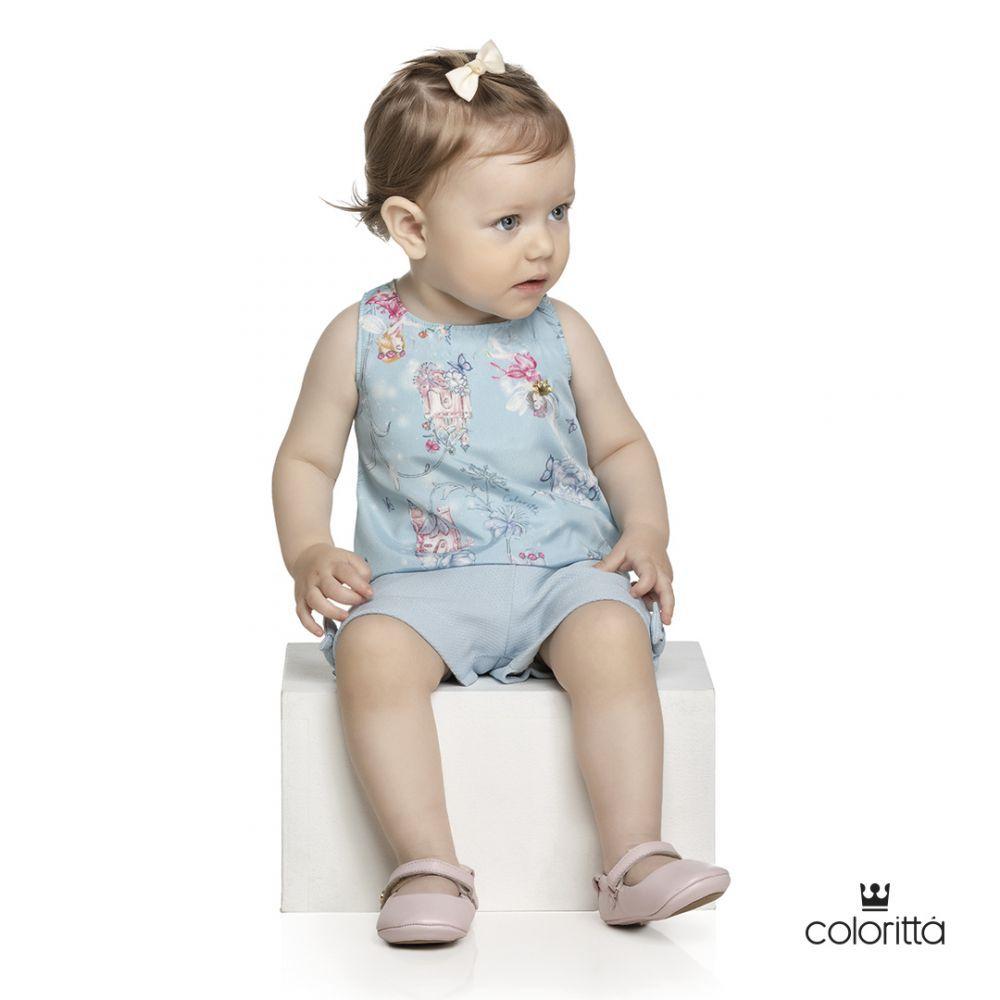 Conjunto infantil feminino de verão para bebê Coloritta
