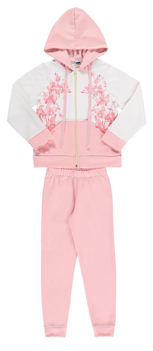 Conjunto infantil feminino Jaqueta e calça em ponto roma soft Marlan