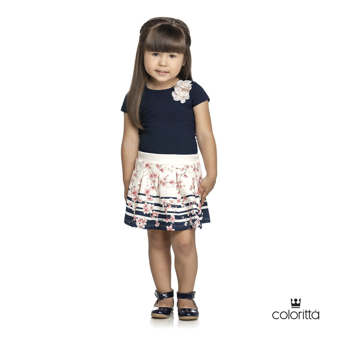 Conjunto infantil feminino Luxo Colorittá