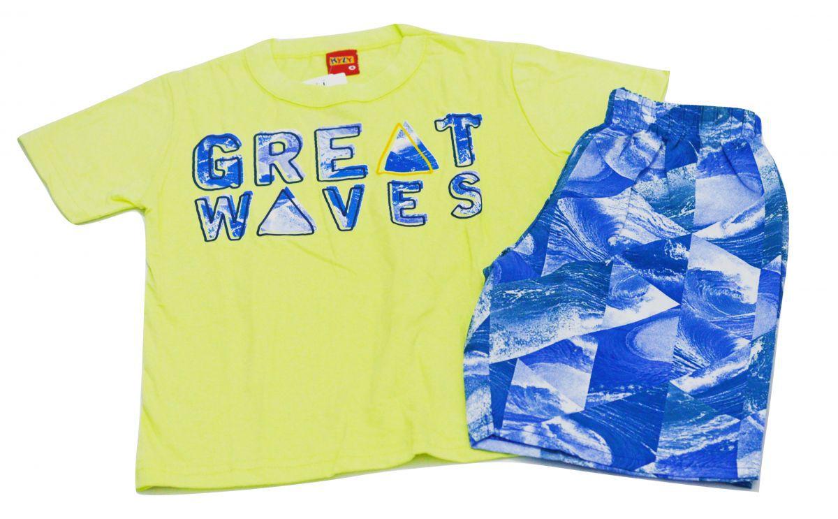 Conjunto infantil masculino amarelo  Great Waves Kyly