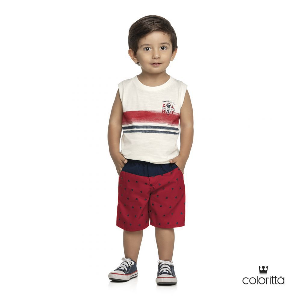 Conjunto infantil masculino de verão Coloritta