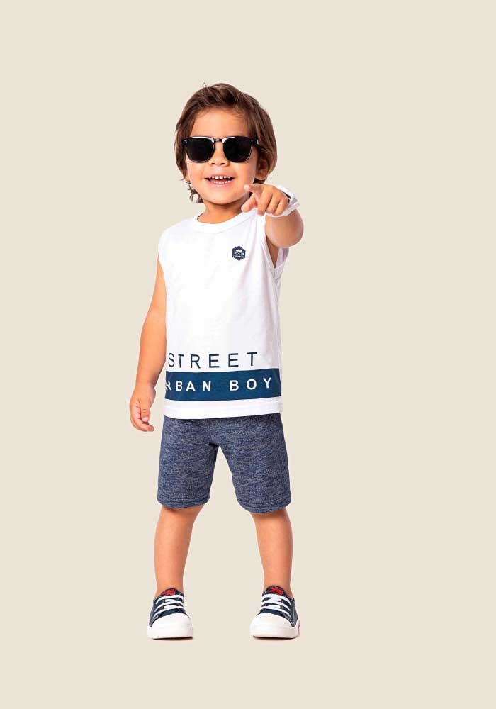 Conjunto infantil masculino de verão Urban Boy Marlan