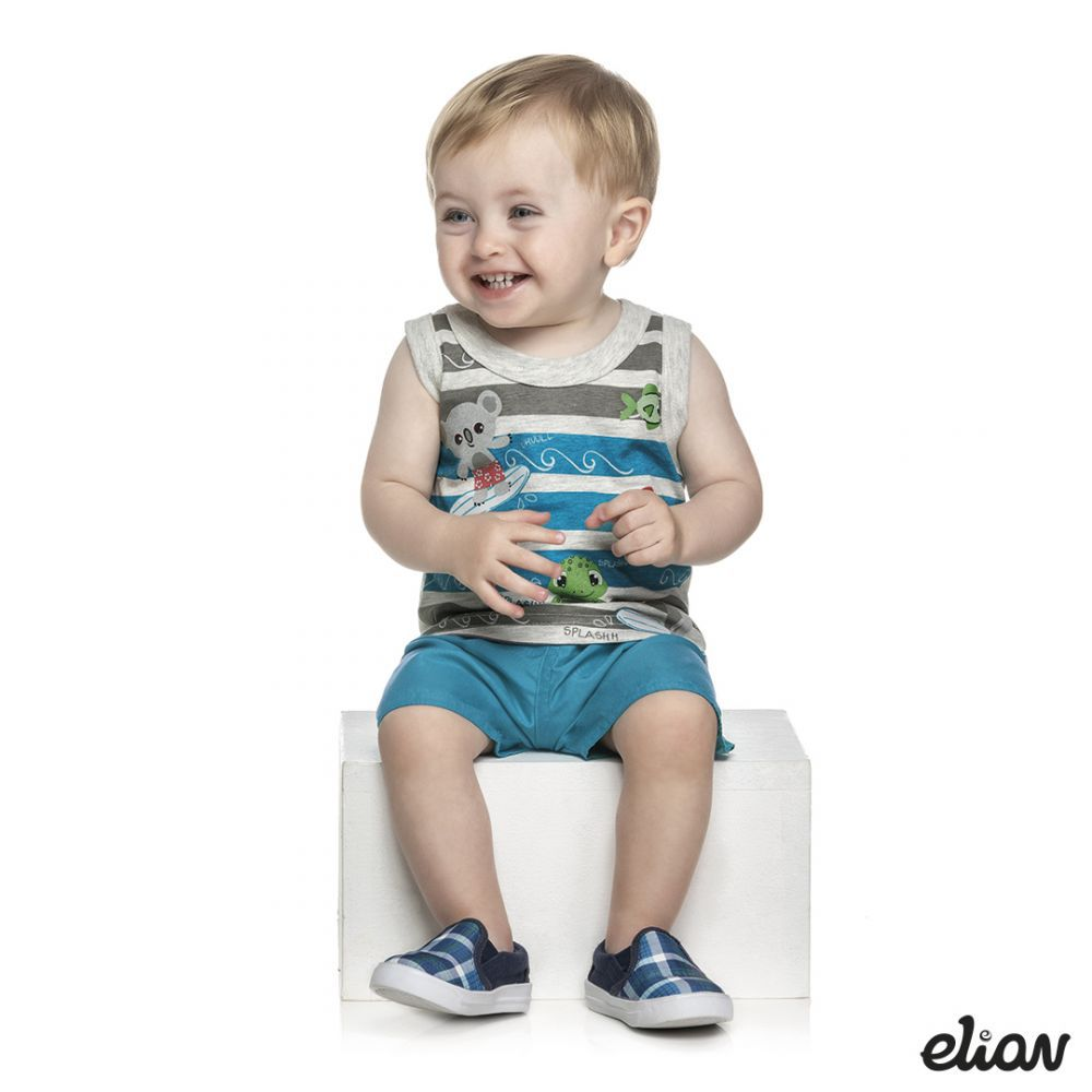 Conjunto infantil masculino para bebê Elian