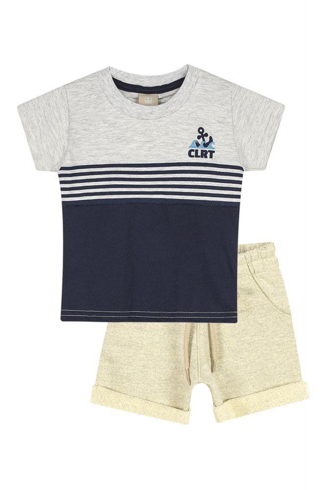 Conjunto infantil masculino para bebê em moletom Coloritta