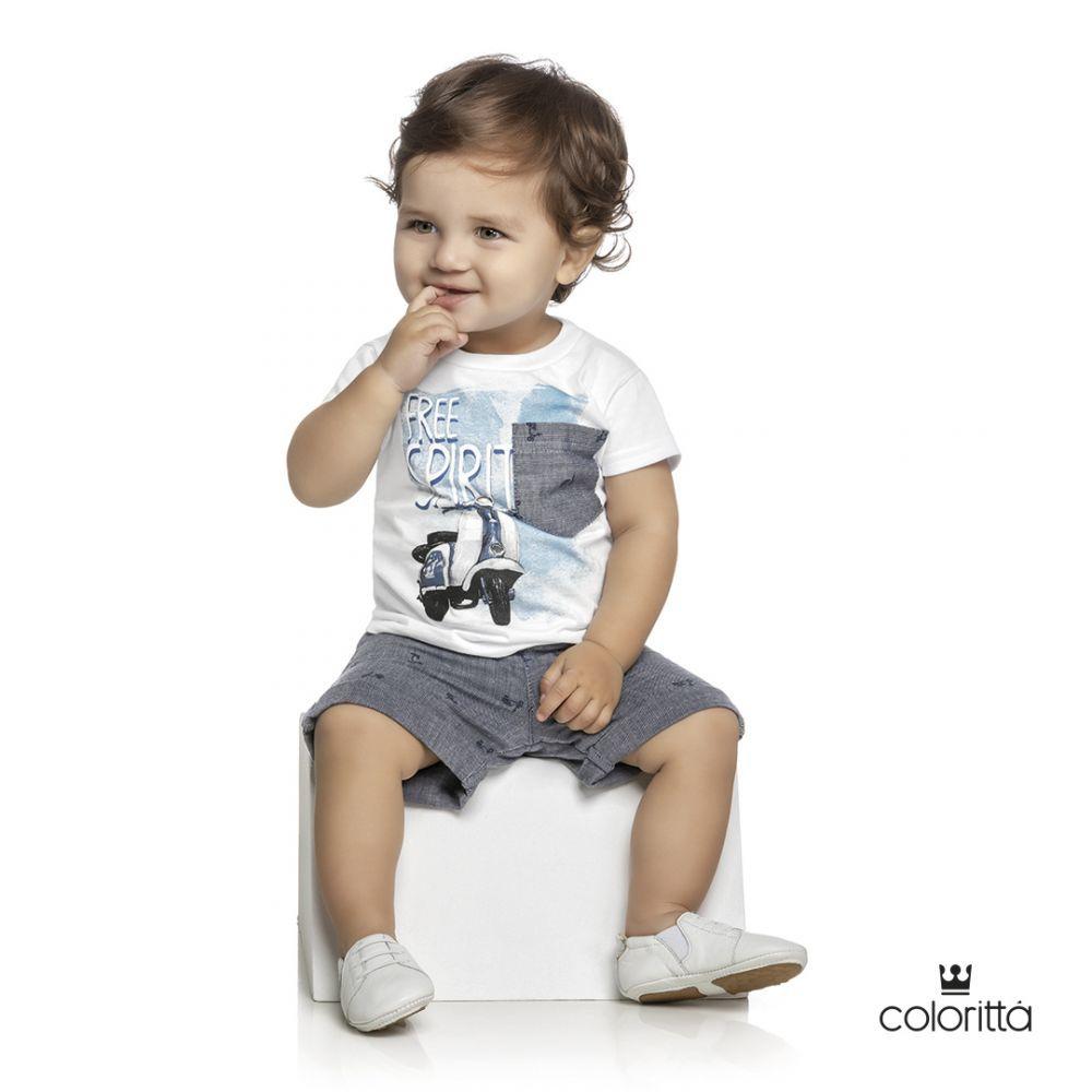 Conjunto infantil masculino para bebê Free Spirit Coloritta