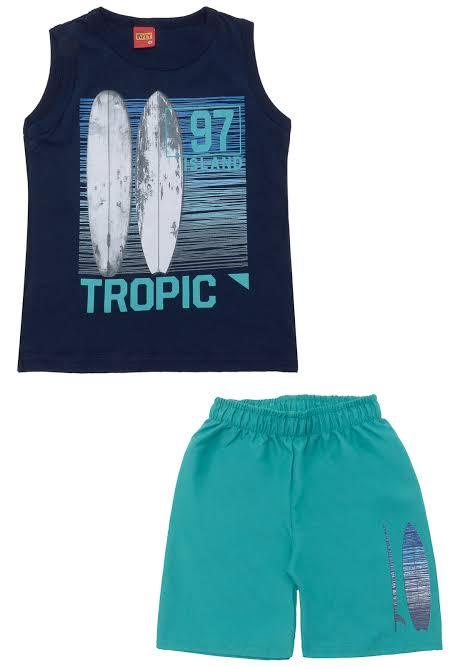 Conjunto infantil masculino regata Tropic Kyly