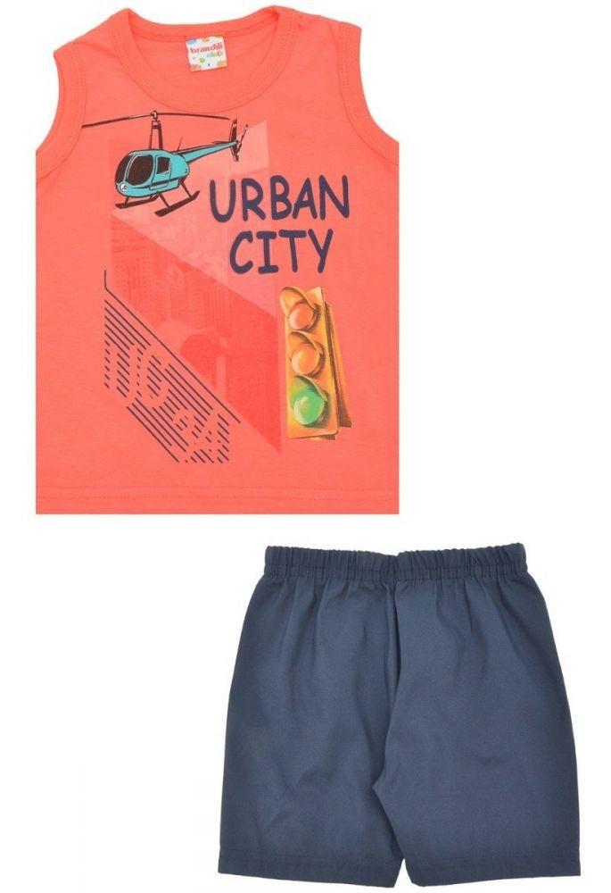 Conjunto infantil masculino regata Urban City Brandili