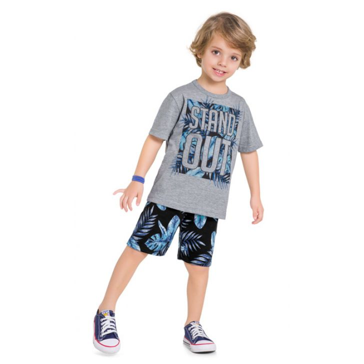 Conjunto infantil masculino Stand out Kyly