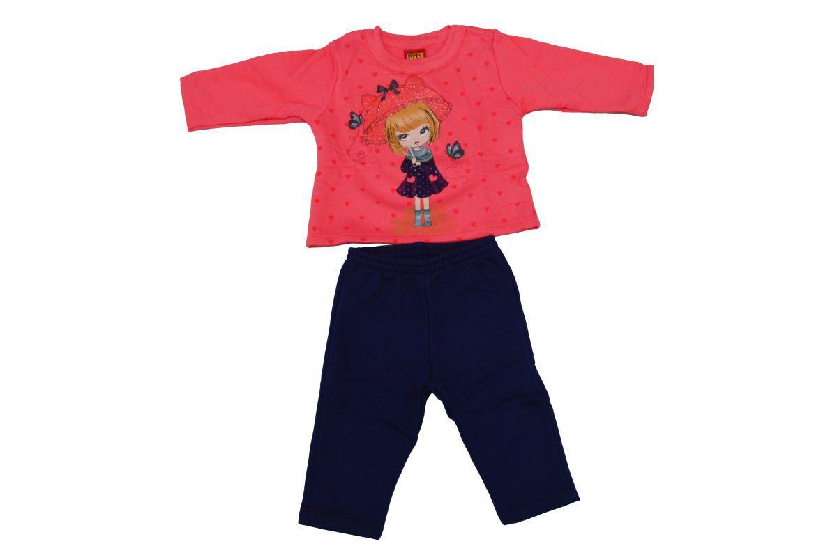 Conjunto infantil moletom de inverno menina boneca Kyly