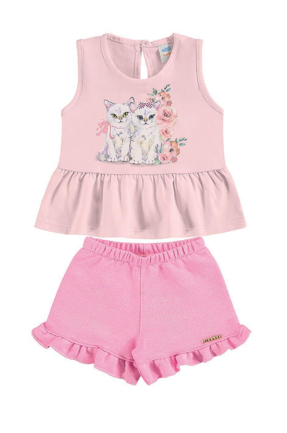 Conjunto infantil para menina Gatinha Marlan