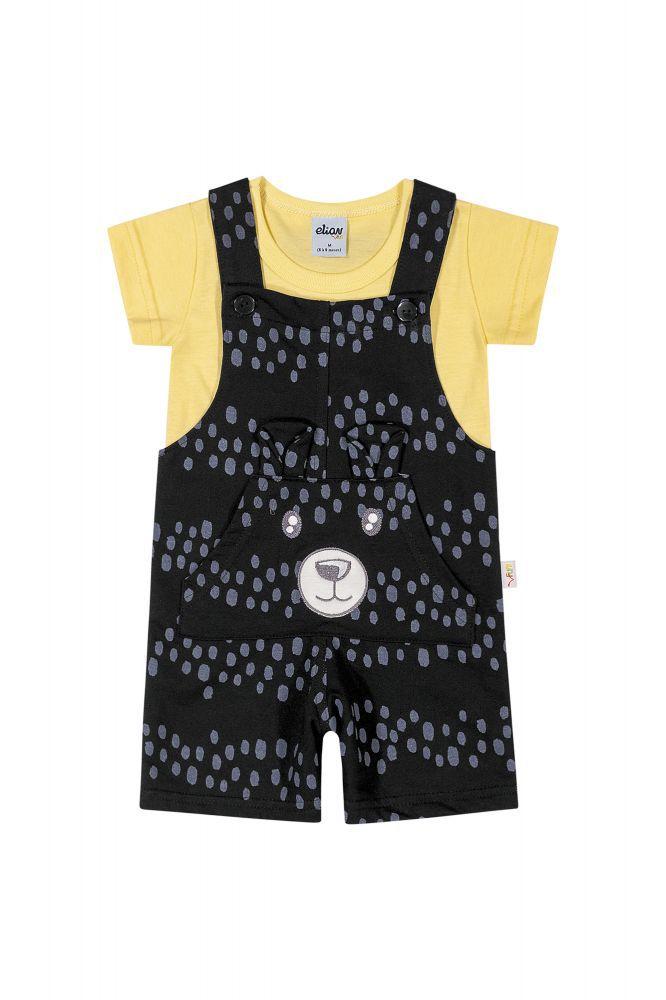 Macacão infantil masculino para bebê poá Elian