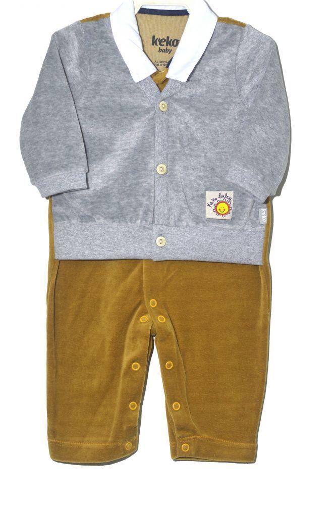 Macacão infantil para bebê de menino Keko