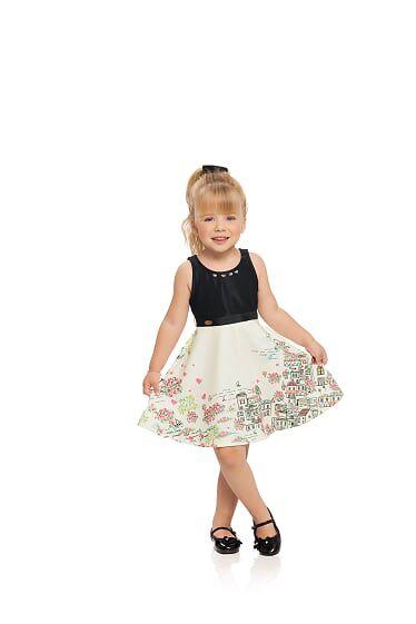 Vestido em malha infantil Milli & Nina
