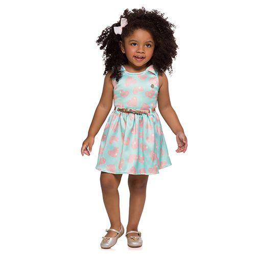 Vestido infantil de coração Mundi FALTA FOTO