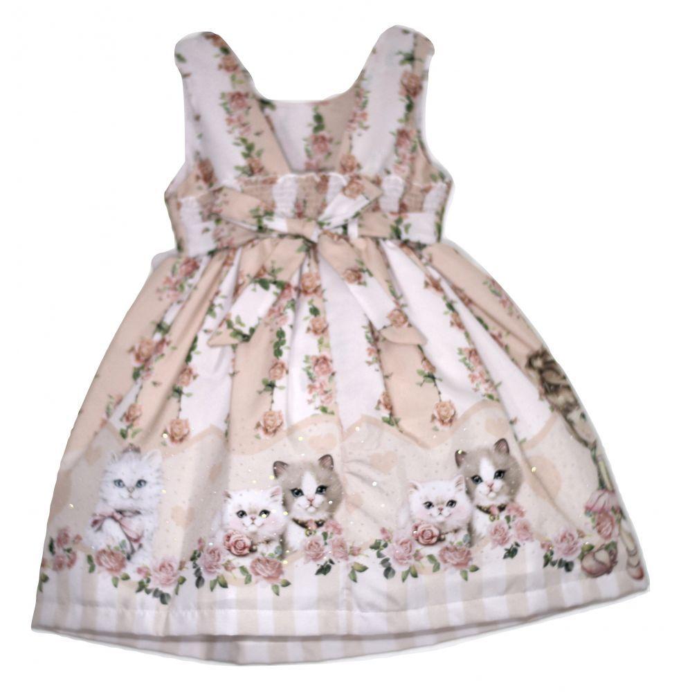 Vestido infantil de festa cat floral Princesa