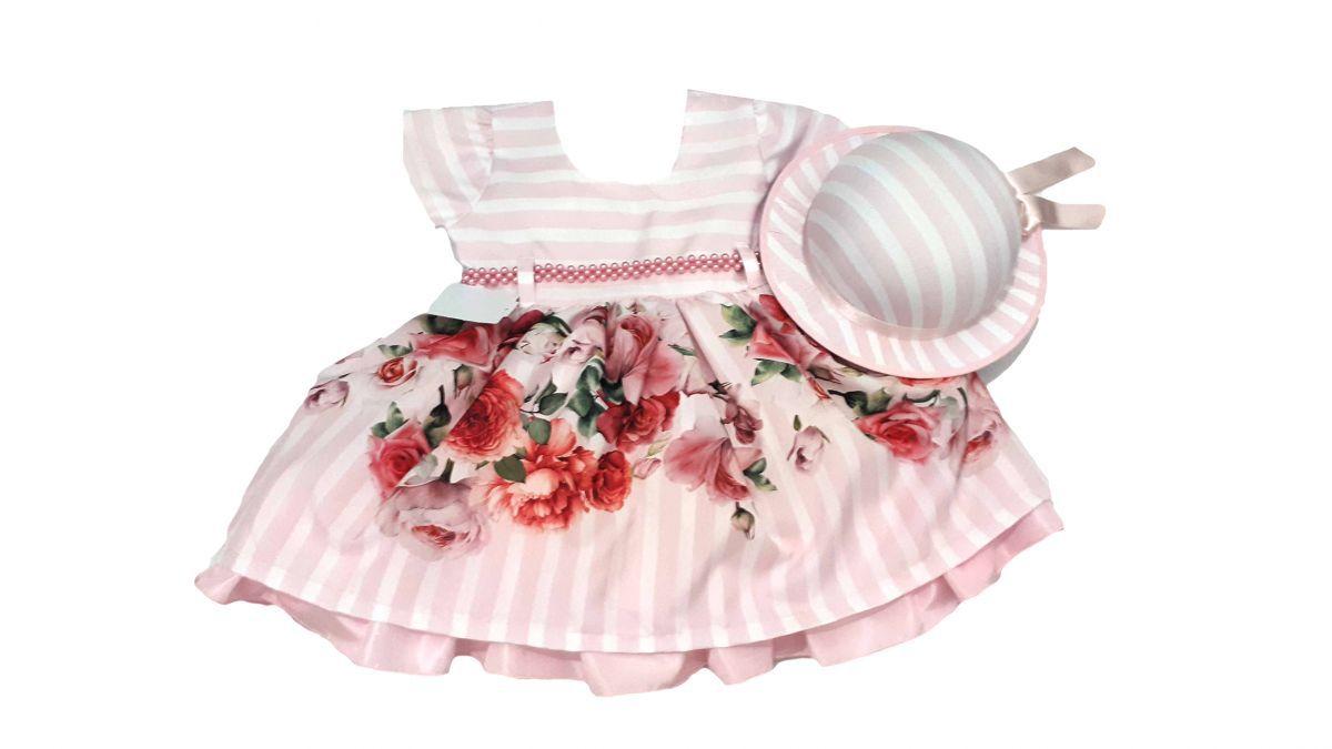 Vestido infantil de festa com chapéu Princesa