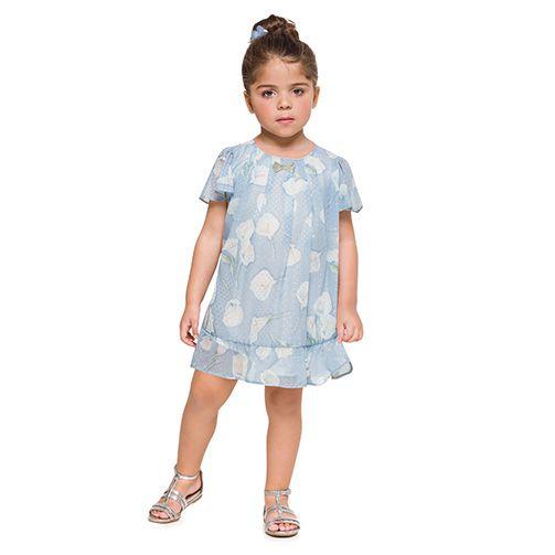 Vestido infantil de menina copo de leite Mundi