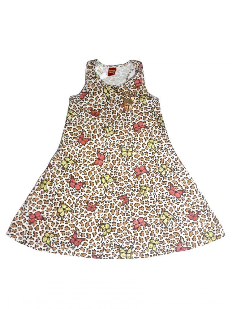 Vestido infantil de Onça e Borboletas da Kyly