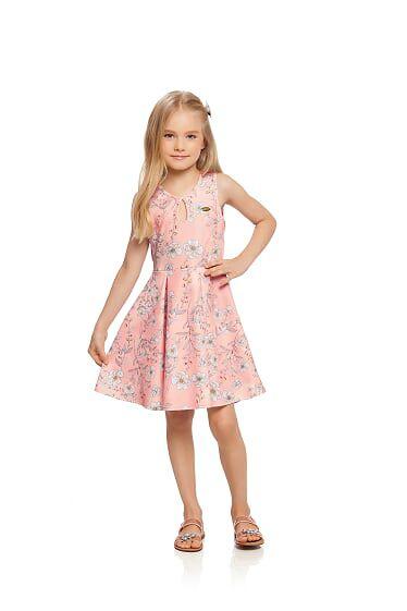 Vestido infantil em cotton Milli e Nina