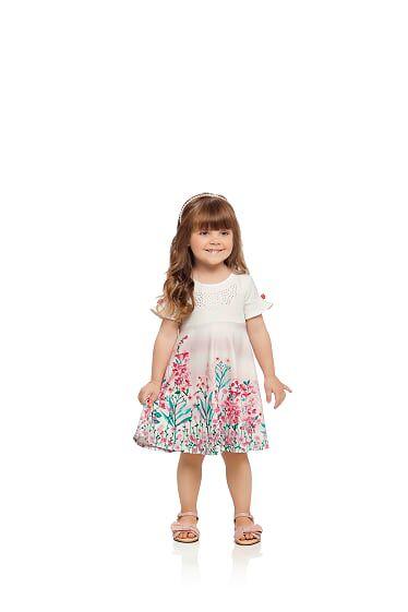 Vestido infantil em crepe Milli & Nina