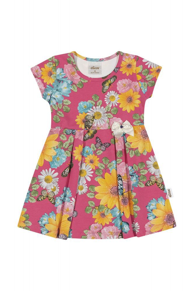 Vestido infantil florido Elian
