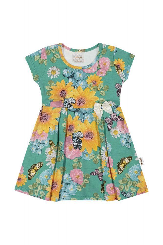 Vestido infantil para bebê florido Elian