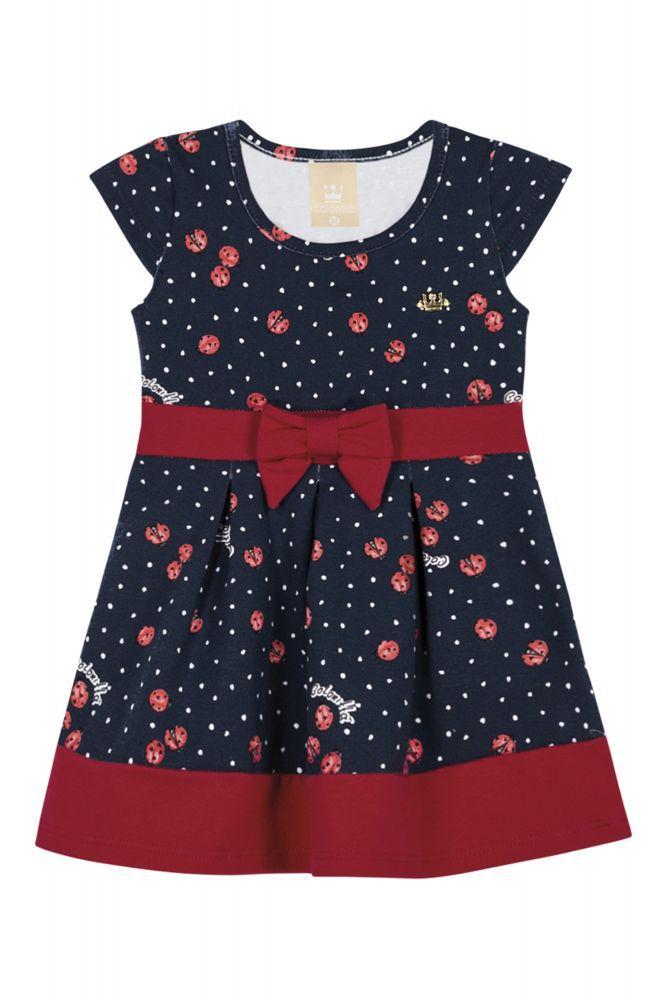Vestido infantil Joaninhas Coloritta