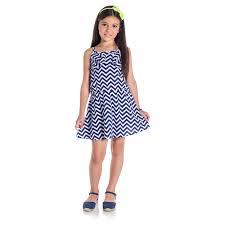 Vestido infantil listrado de alça Kyly