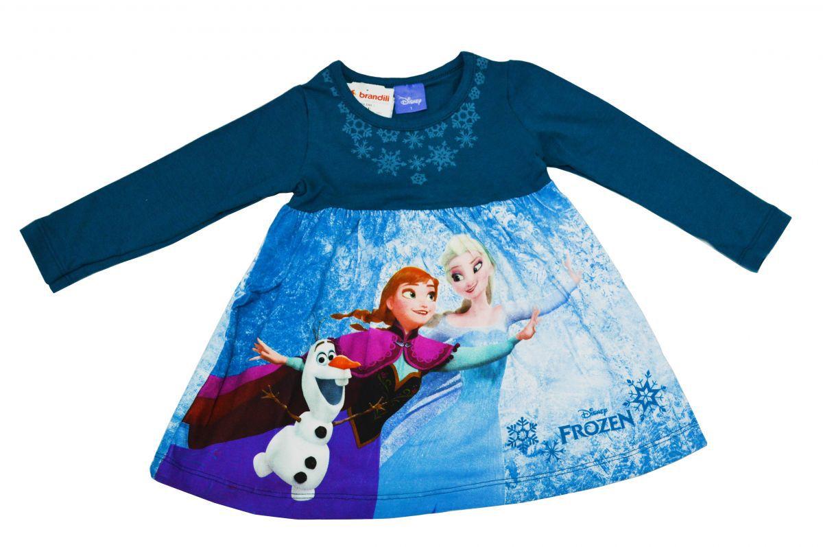 Vestido infantil manga longa Frozen Brandili