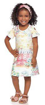 Vestido infantil em Malha Crepe Milli & Nina