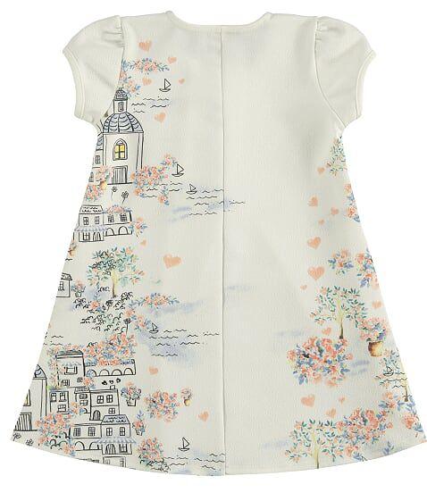 Vestido Infantil em Malha Crepe Estampado Milli & Nina