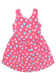 Vestido infantil rosa de bolinhas Elian