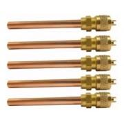 Válvula Schrader 1/4 SAE C/ Tubo ( Rabicho) de 100MM X 07,MM Espessura Parede