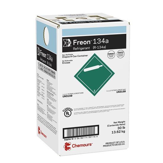 Fluido Refrigerante FREON 134a (R-134a) DAC 13,62Kg (Antigo Dupont Suva 134a)
