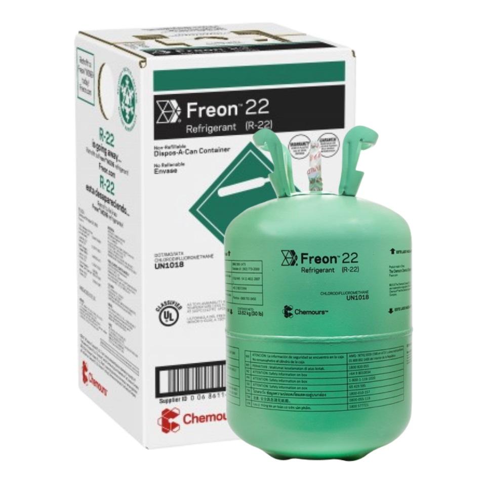 Fluido Refrigerante FREON 22 (R-22) DAC 13,62 Kg (Antigo Dupont FREON R22)