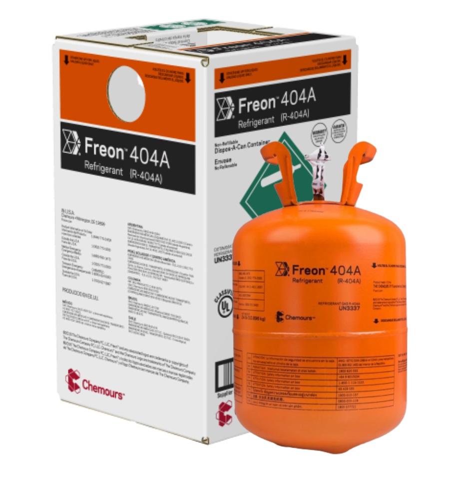 Fluido Refrigerante FREON 404A (R-404A) DAC - 10,896Kg (Antigo Dupont Suva  404A)
