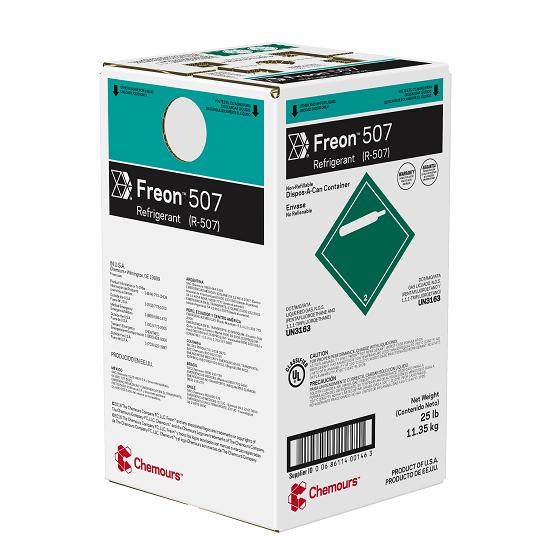 Fluido Refrigerante FREON 507 (R-507) DAC 11,35 kg (Antigo Dupont Suva 507)