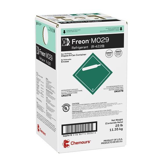 Fluido Refrigerante FREON MO29 (R-422D) DAC 11,35 Kg (Antigo Dupont Isceon MO29)