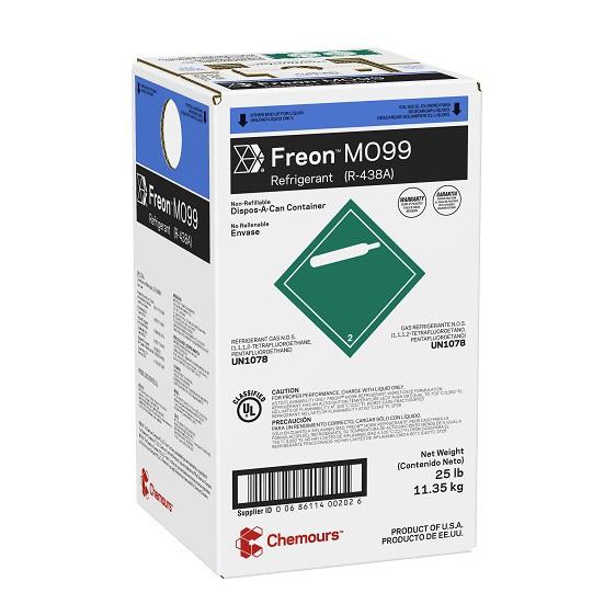 Fluido Refrigerante FREON MO99 (R-438A) DAC 11,35 Kg (Antigo Dupont Isceon MO99)